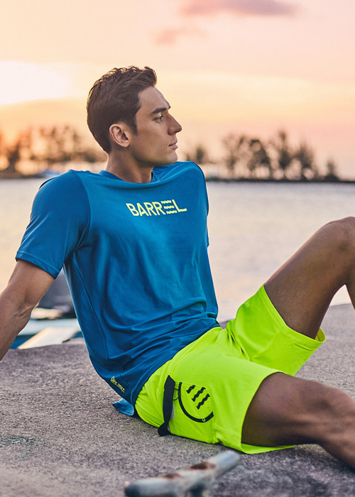 [5%쿠폰] 배럴 맨 카고 보드숏 V2 #OB6822Y2 / NEON YELLOW BARREL CARGO BOARDSHORT V2