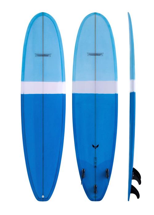 모던 서핑 롱보드 7'6 블랙버드 PU 베이직 블루 /BLUE MODERN 7'6 MD BLACKBLRD PU BASIC MD-BIRDPU-0706-BBL