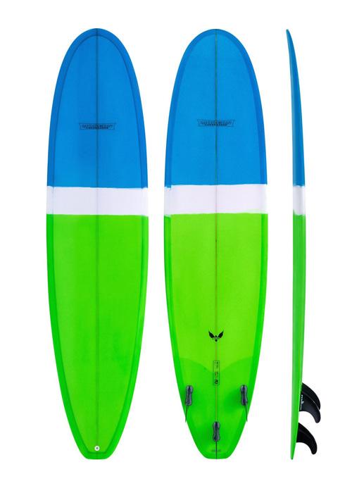 모던 서핑 롱보드 7'6 블랙버드 PU 베이직 라임 /LIME MODERN 7'6 MD BLACKBLRD PU BASIC MD-BIRDPU-0706-BLM