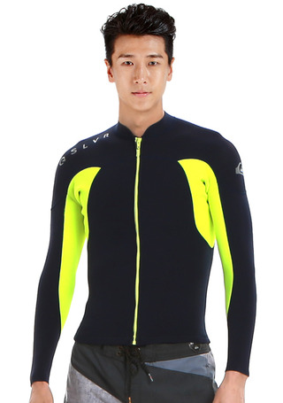 퀵실버 웻슈트 1.5mm 자켓 #NQS716NV / NAVY QUIKSILVER_MENS WET SUIT 1.5 FULL ZIP LS JK Q721WS109NVY