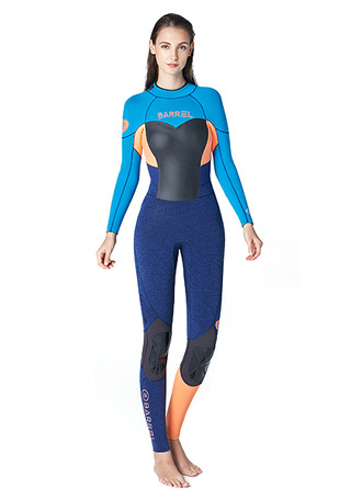 [5%쿠폰] 배럴 우먼 풀 슈트 백집 3/2mm #NB675888 / AQUA BLUE/PEACH BARREL_ WMS NEOPRENE 3MM FULL SUIT BACK-ZIP
