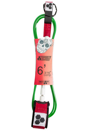 채널 아일랜드 서핑보드 리쉬 6.0/CHANNEL ISLANDS BOBBBY COMP LEASH 6_RED/WHITE/GREEN_PCI709R1_PCI709R1