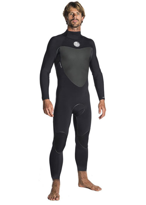 립컬 맨 전신 웻슈트(숏) 플래시밤 4/3mm 백집 #NRC811BK / BLACK RIPCURL FLASHBOMB 43GB B/ZIP STMR(SHORT) WSU7LF