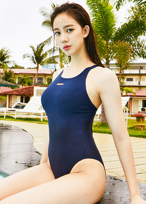 [5%쿠폰]배럴 우먼 레이싱 V 백 스윔슈트 BARREL WMS RACING V BACK SWIMSUIT_BWHWSWO011_NAVY_NB6899NV