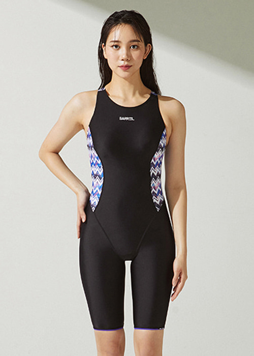 [5%쿠폰]배럴 우먼 레이싱 테크 홀 패턴 스윔슈트 BARREL WMS RACING TECH HOLE PATTERN SWIMSUIT_BWHWSWO010_BLACK/ZIGZAG_NB6881BK