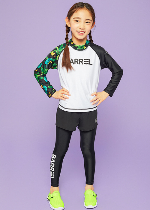 [5%쿠폰]배럴 키즈 어반 워터 레깅스 V2 BARREL KIDS URBAN WATER LEGGINGS V2_BWIKLGB001_BLACK/BLACK_OB6910BK [C007]
