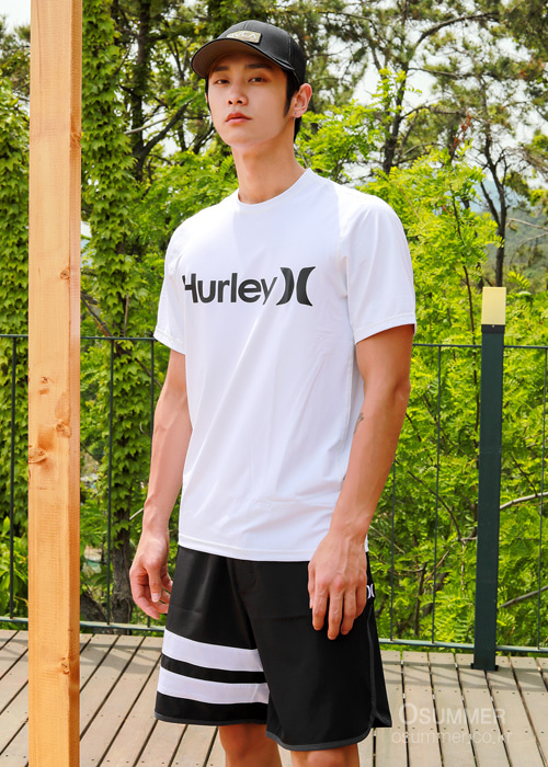 헐리 남성 루즈핏 래쉬가드/HURLEY ONE & ONLY SURF SHIRT SHORT SLEEVE(894630)_100(WHITE)_NHU904WH/S7HU904WH