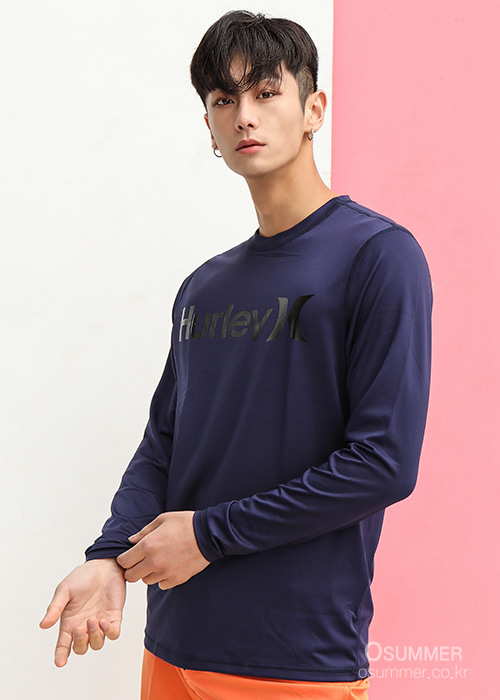 헐리 남성 루즈핏 래쉬가드/HURLEY ONE & ONLY SURF SHIRT LONG SLEEVE 894629-(451) OBSIDIAN_NHU0014O/S7HU0014O