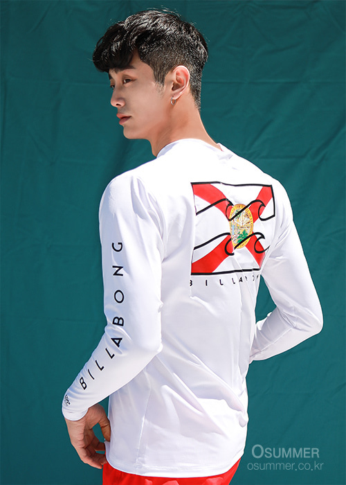 빌라봉 남성 루즈핏 래쉬가드/BILLABONG NATIVE FLORIDA LF LS/MR591BNF-WHT(WHITE)_NBI002WH/S7BI002WH